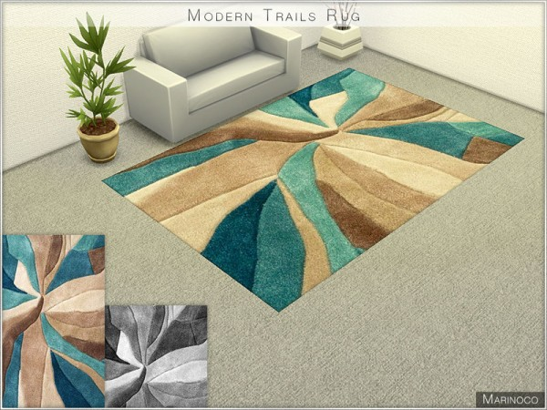 The Sims Resource Modern Trails Rug By Marinoco Sims 4