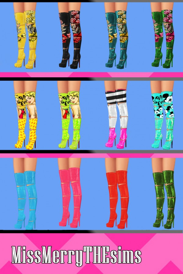Miss Merry The Sims: Fashion Boots