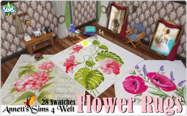 Annett`s Sims 4 Welt: Flower rugs