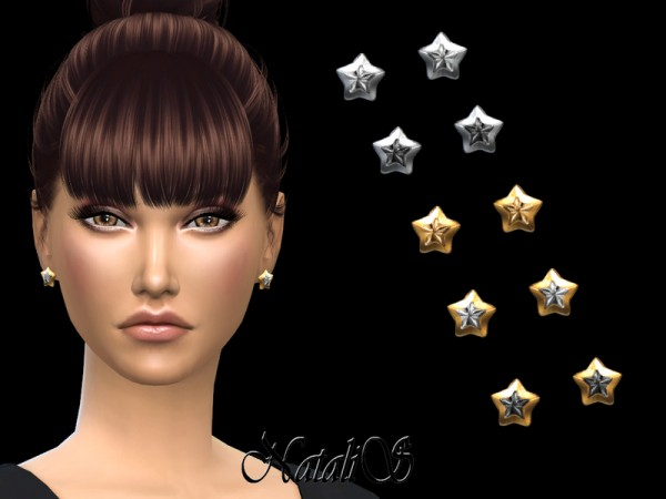 The Sims Resource: Star Stud Earrings by NataliS