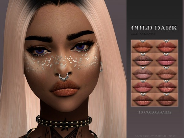 The Sims Resource: Lip Gloss   cold dark by ANGISSI