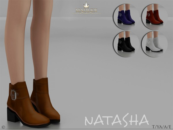 The Sims Resource: Madlen Natasha Boots by MJ95