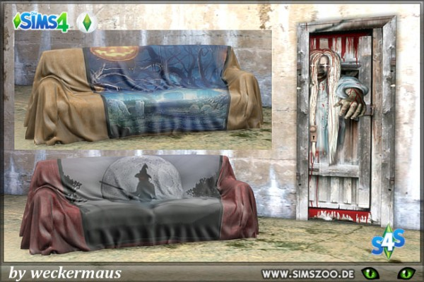 Blackys Sims 4 Zoo: Halloween Couch by weckermaus