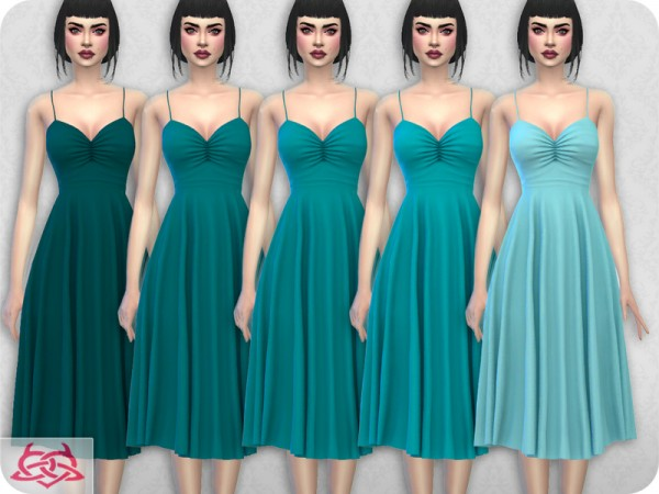 The Sims Resource: Claudia dress recolor 3 by Colores Urbanos