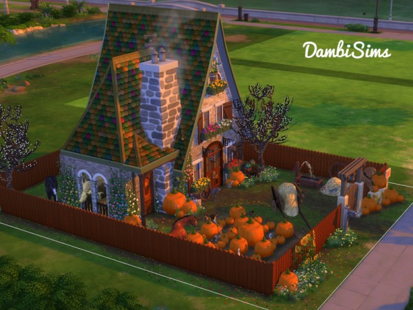 The Sims Resource: Pumpkin Cottage Farm by dambsims