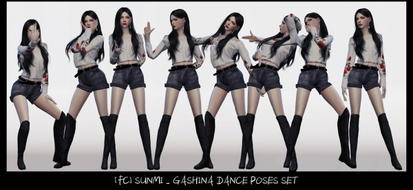 Flower Chamber Dance Poses Set Sims 4 Downloads