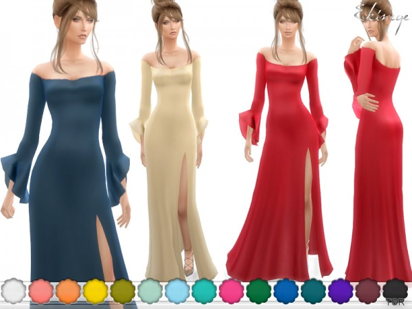The Sims Resource: Long Sleeve Ruffle Cuff Dress by ekinege
