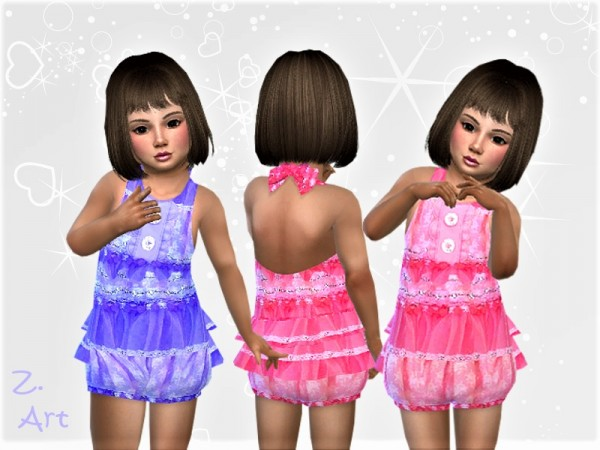 The Sims Resource: Opulent jumpsuit with lace by Zuckerschnute20