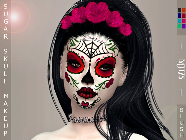The Sims Resource: Sugar Skull Makeup by Margeh 75