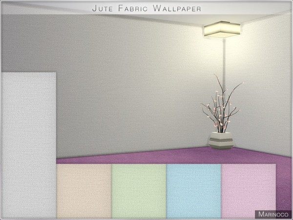The Sims Resource: Jute Fabric Wallpaper by Marinoco