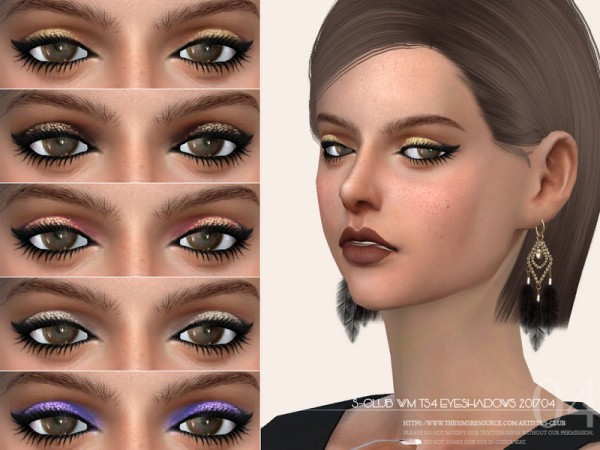 The Sims Resource: Eyeshadow F201704 by S Club