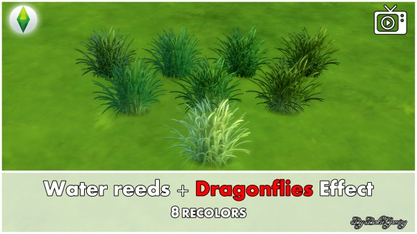 Mod The Sims: Water reeds and Dragonflies effect by Bakie