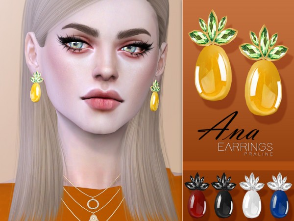 The Sims Resource: Ana Earrings by Pralinesims