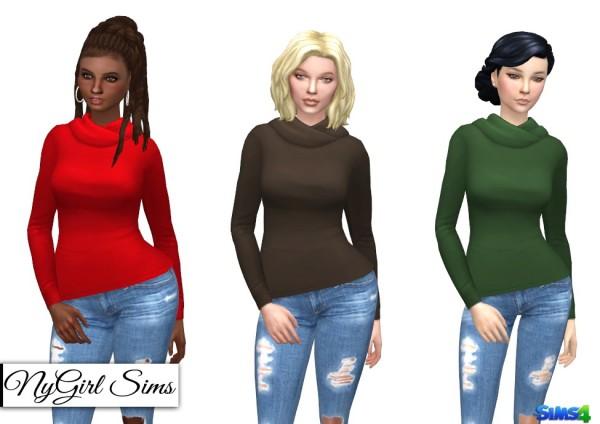 NY Girl Sims: Hooded Long Sleeve Tee