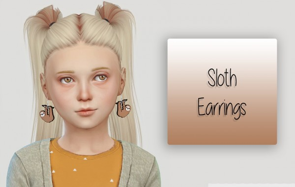 Simiracle: Sloth Earrings for girls