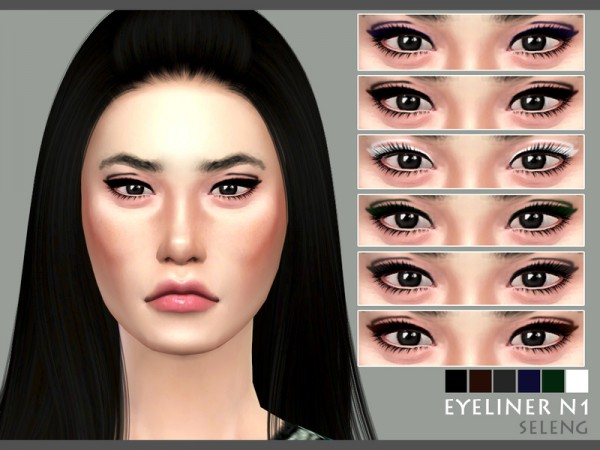The Sims Resource: Eyeliner N1 by Seleng