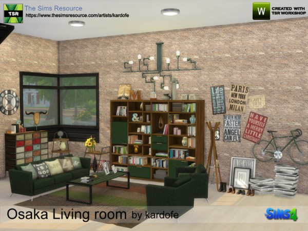The Sims Resource: Osaka Living room by kardofe