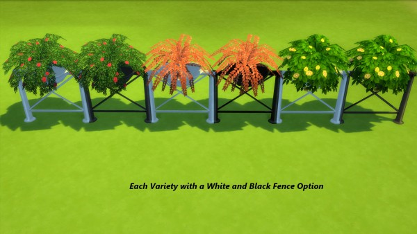 Mod The Sims: Go Green  Fence Enhancers with Potted Plants by Snowhaze