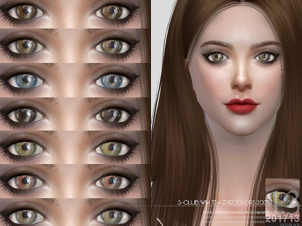 The Sims Resource: Eyecolors 201713 by S Club