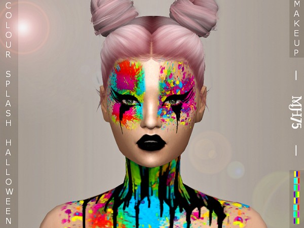 The Sims Resource: Halloween Coloursplash Makeup by Margeh75