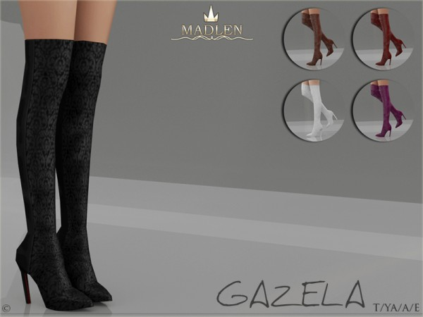 The Sims Resource: Madlen Gazela Boots by MJ95