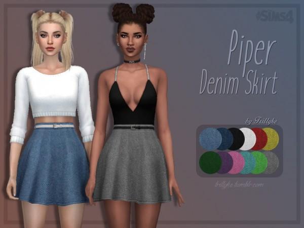 Trillyke: Piper Denim Skirt