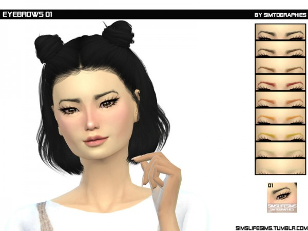 The Sims Resource: Eyebrows 01 by simtographies