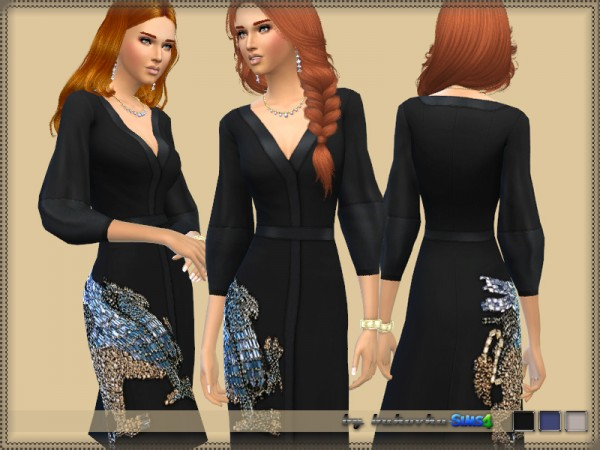 The Sims Resource: Dress Embroidered Griffin by Bukovka