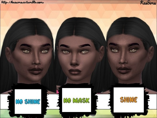 Simsworkshop: Ethnic Facial Mask Set by KaiSimsCC