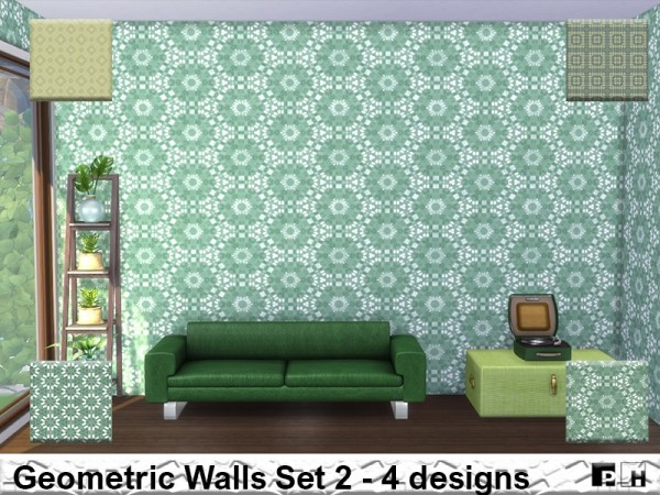 The Sims Resource: Geometric Walls Set 2 by Pinkfizzzzz
