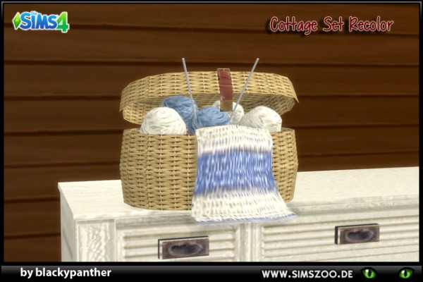 Blackys Sims 4 Zoo: Knitted basket  cottage set by blackypanther