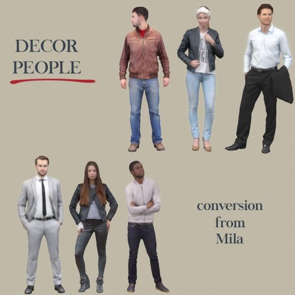 Leo 4 Sims: Mila People Models