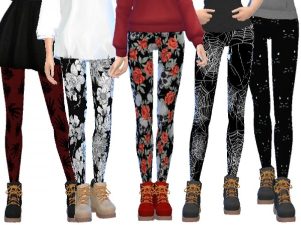 The Sims Resource: Halloween Themed Leggings by Wicked Kittie