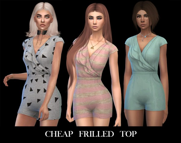Leo 4 Sims: Cheap frills romper recolored