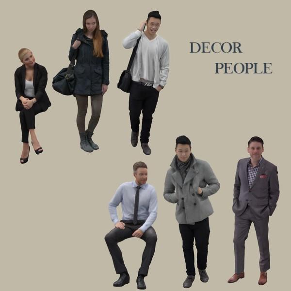 Leo 4 Sims: Decor people