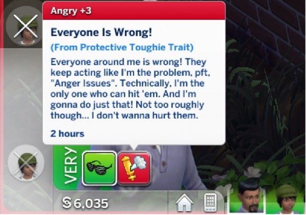 Mod The Sims: Tough Protector Trait! by BreezyHoodie