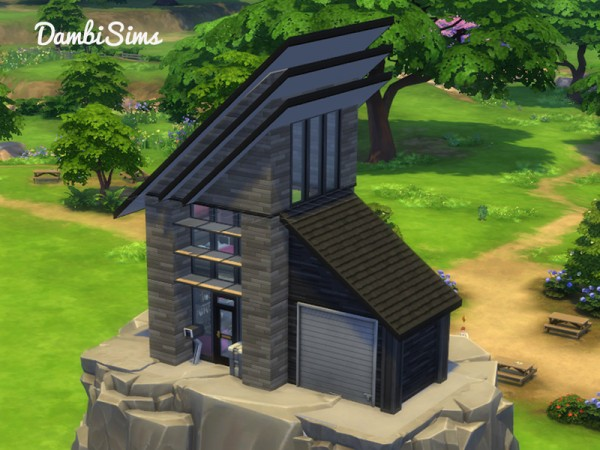 The Sims Resource: Alpine Modern House by dambisims