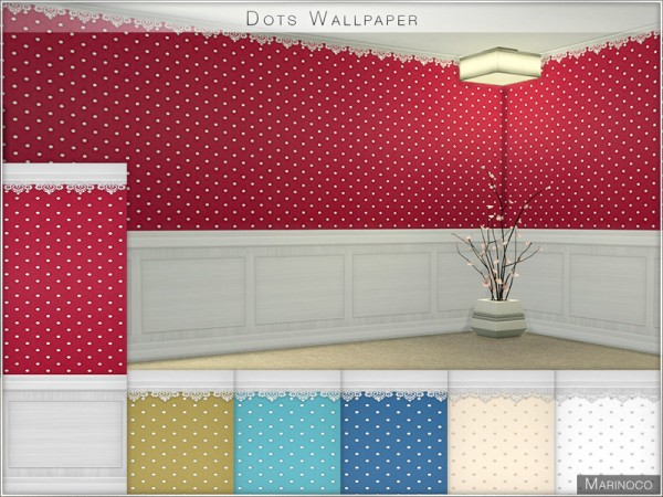 The Sims Resource: Dots Wallpaper by Marinoco