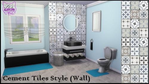 Les Sims 4: Cement Tiles Style