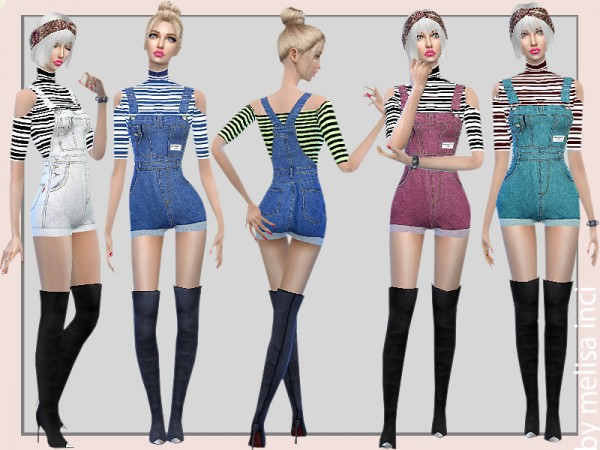The Sims Resource: Short Overall Jumpsuit by melisa inci