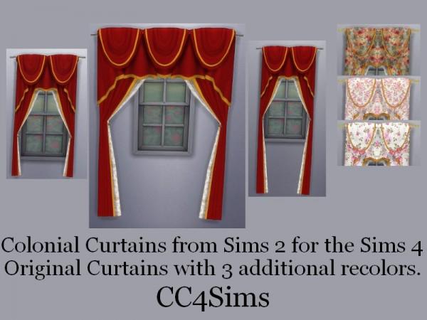 CC4Sims: Colonial curtains