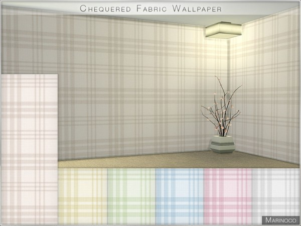 The Sims Resource: Chequered Fabric Wallpaper by Marinoco