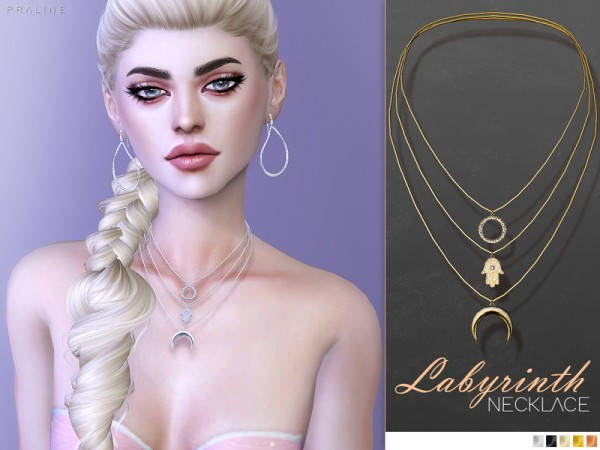 The Sims Resource Labyrinth Necklace By Pralinesims