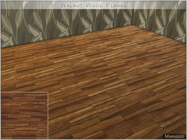 The Sims Resource: Walnut Wood Planks by Marinoco