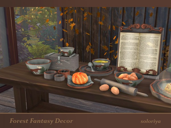 The Sims Resource: Forest Fantasy Decor set by Soloriya