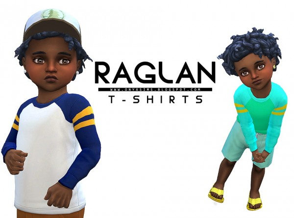 Onyx Sims: Raglan T Shirts for Toddlers