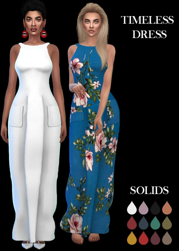 Leo 4 Sims: Timeless Dress recolor