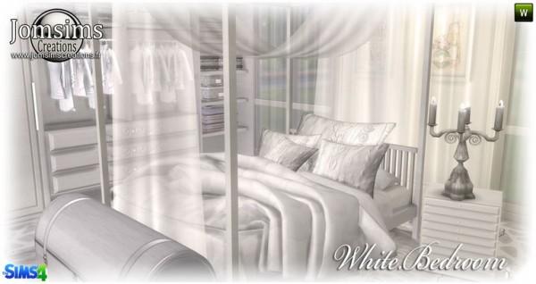Jom Sims Creations: White bedroom