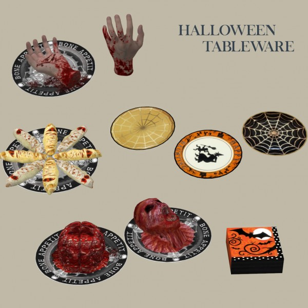 Leo 4 Sims: Halloween Tableware