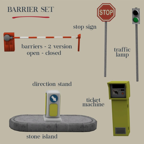 Leo 4 Sims: Barrier Set